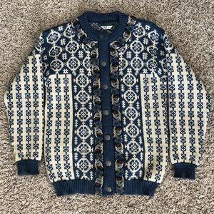 Dale of Norway wool geometric cardigan sweater